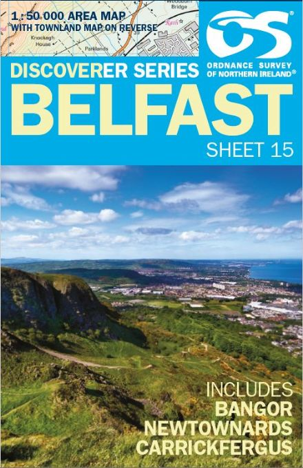 Ordnance Survey Northern Ireland 1:50,000 - Map 15 - Belfast